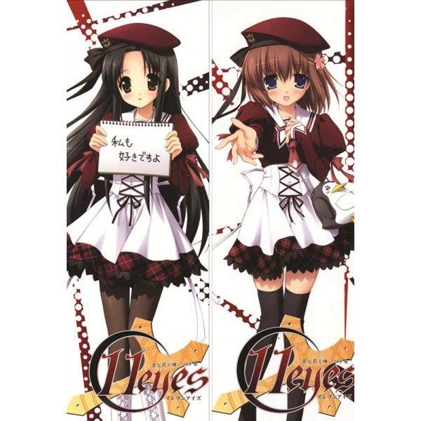 11eyes Kukuri Tachibana Yuka Minase Dakimakura Anime Pillow Case