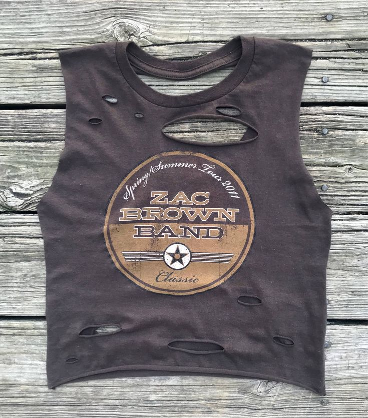 Excited to share the latest addition to my #etsy shop: #ZacBrownBand #RebelFray Custom Distressed Tank Top Shirt Women's S http://etsy.me/2Eei9DV #clothing #women #shirt #brown #s #tour #xl #zacbrownband #zbb