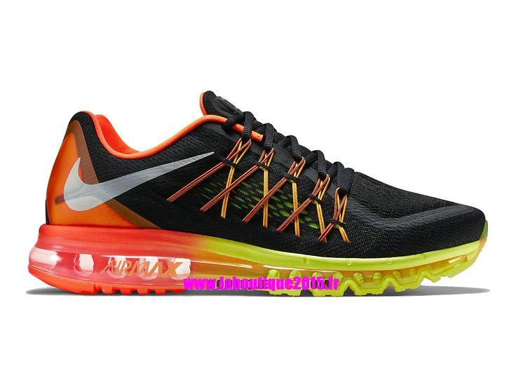 3ba78dcf345 ... promo code officiel nike air max 2015 chaussures de running pour homme  noir cramoisi hyper volt