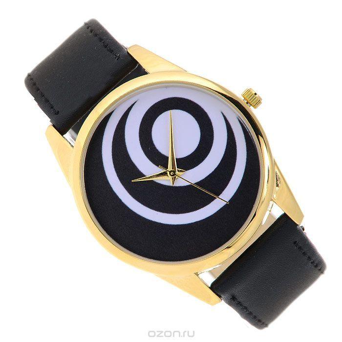 Часы наручные Mitya Veselkov Черные диски. Gold-19