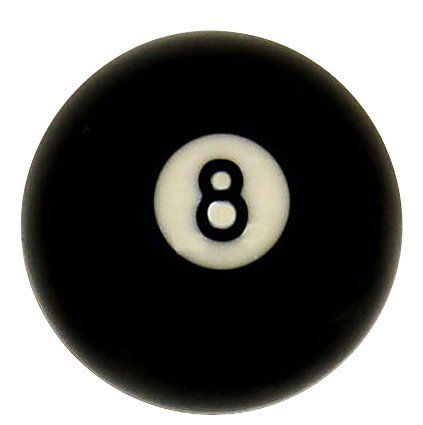 "# 8 Ball Regulation Size 2 1/4"" Pool Table Billiard Replacement by Iszy Billiards. $5.41. Regulation size 2 1/4"" -  # 8 ball Made of polyester resin -  6 ounces"