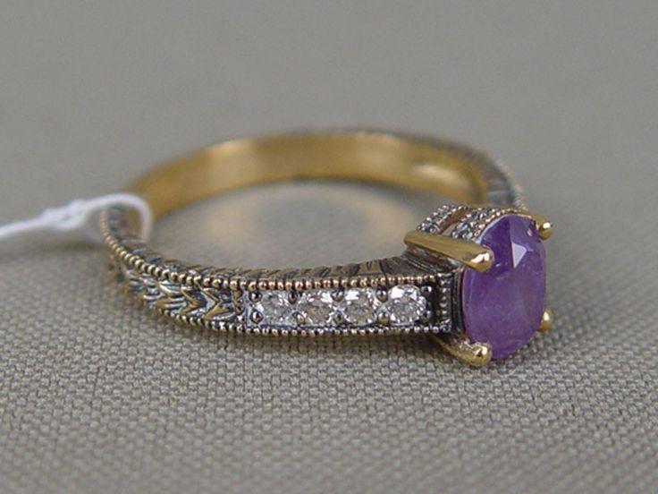 Антиквариат. антикварное золото Кольцо, золото 585 пробы, бриллиант. александрит