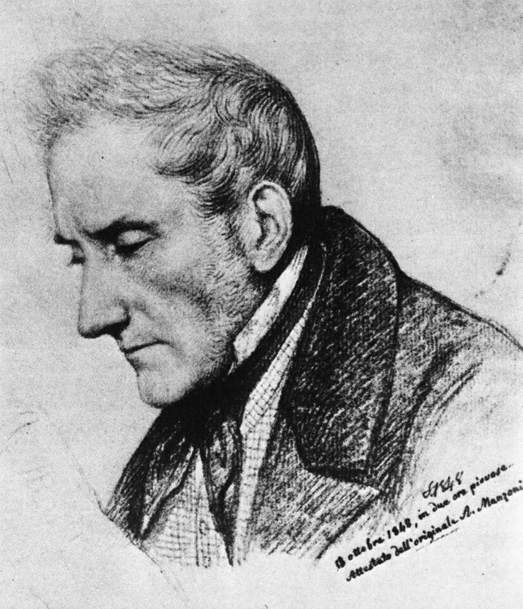 Alessandro Manzoni- Disegno(1848)