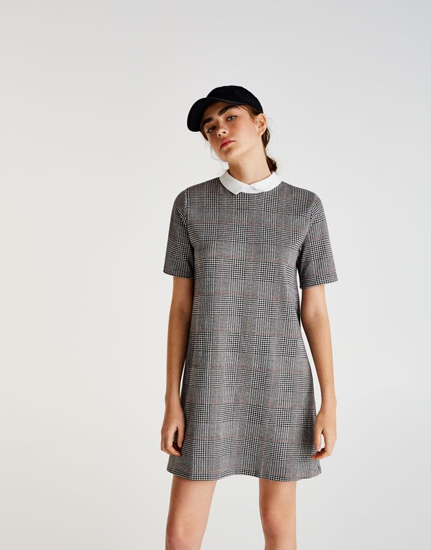 c8f77601d Checked baby doll dress - Dresses - Clothing - Woman - PULL BEAR France