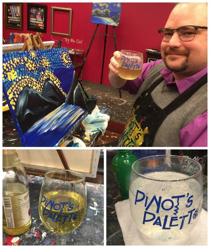 We had the most amazing date night at Pinot's Palette! Looking for a fun date night idea? Check out our #paintandsip date at Pinot's Palette! It was Harry Potter themed! We had so much fun! #ad #disconnecttoreconnect #pinotspalette
