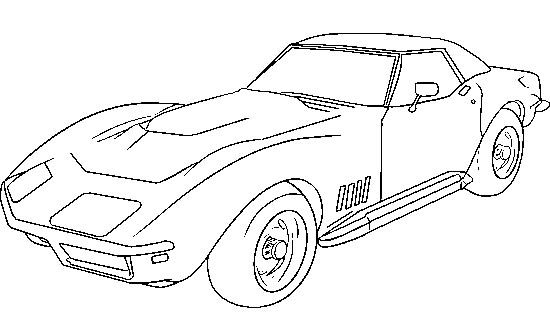 Corvette 1979 Coloring Page Car Pages