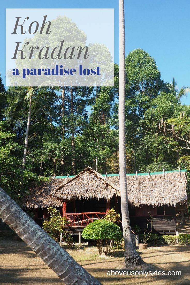Back to nature on the Thai island of Koh Kradan...