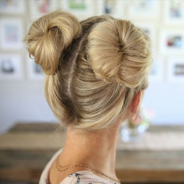 Here are 3 different options on how to do Double Buns ...