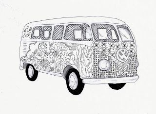 volkswagen bus coloring pages - photo#25
