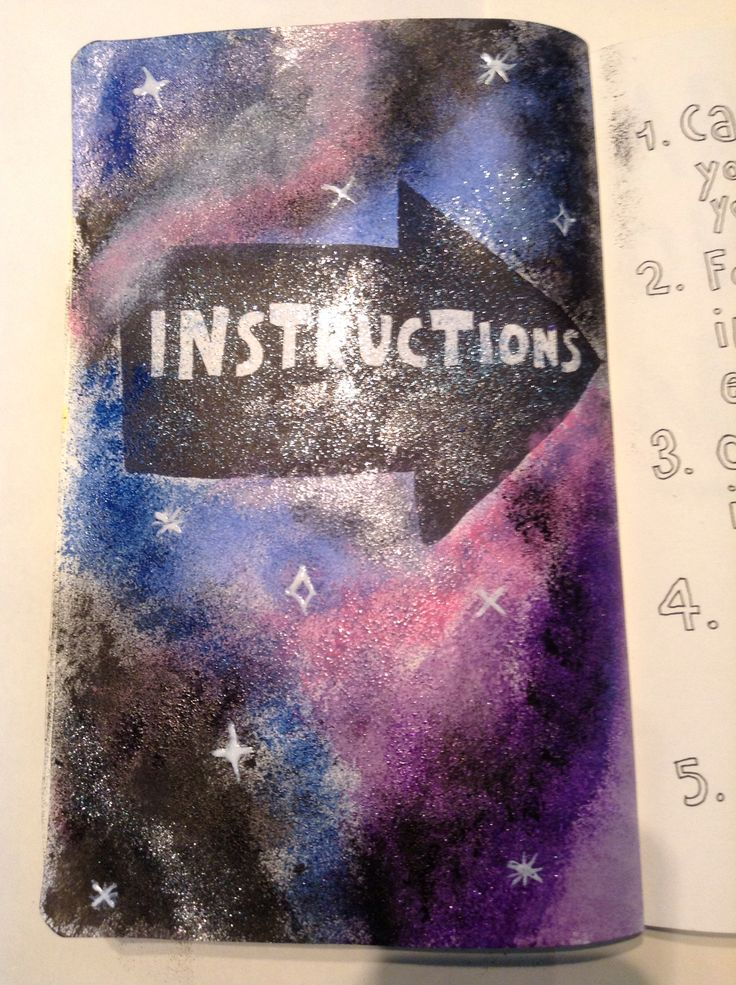 My instruction page in my wreck this journal book