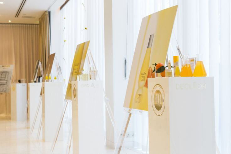 The beautiful DECLÉOR set up - from DECLÉOR's pioneering expertise in Aromatherapy up to the next generation skincare.