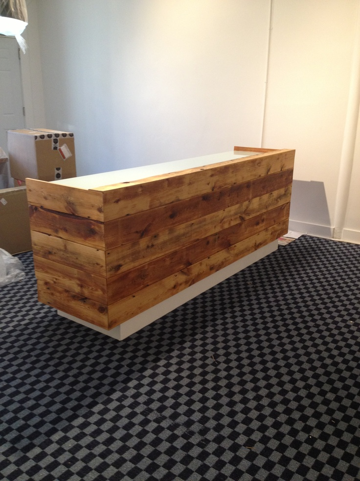 Our Reclaimed Wood Front Desk By New Found Design Was Just Installed Awesome Thanks