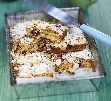 Oat + cranberry bars with Dates + Almonds
