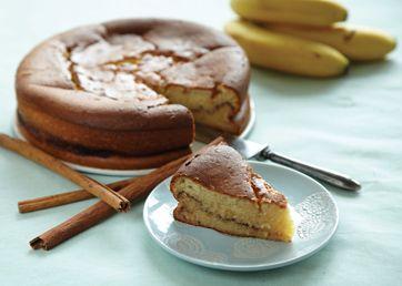 Skøn kage med bananernes sødme og et strejf af kanel