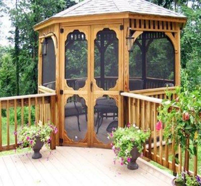 The 25 best deck gazebo ideas on pinterest pergola for Garden decking with gazebo