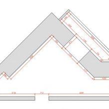 Нью-йоркский дворик: дизайн треугольной кухни 13 кв. м.-6