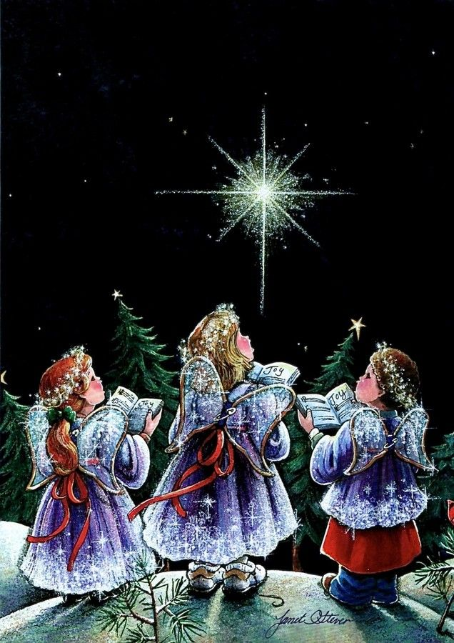 Old Christmas Post Cards — Angels (639x900):
