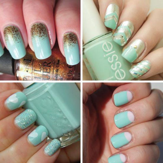 Cute mint nail designs choice image nail art and nail design ideas the 25 best mint nail art ideas on pinterest elegant nail art 45 cute mint nail prinsesfo Gallery
