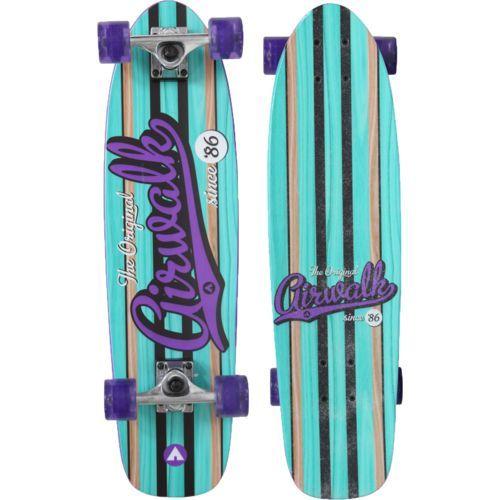 Airwalk EZ Cruiser 28.5 Skateboard Purple - Skateboard And Accessories at Academy Sports