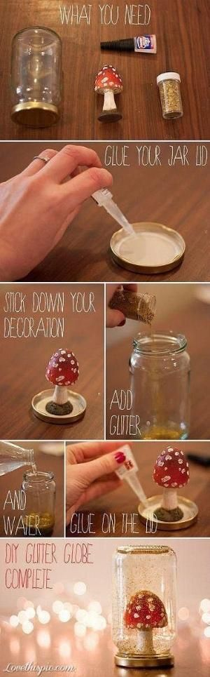 DIY Glitter globe. DIY crafts never looked so good. Get everything you need at Walgreens.com.