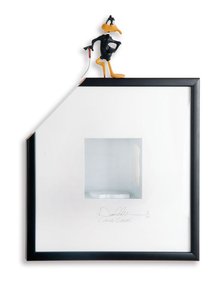 """""""Cutting Corners"""" is a limited edition, shadow box artwork, 20.1""""×27.2"""" (inches)   51×69 cm  For more info, please visit the link provided above."""