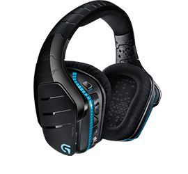 G933 lets you choose between wired or wireless sound. It features Pro-G audio drivers, 7.1 surround, programmable G-Keys, adjustable RGB lighting, and multi-source audio mixing.