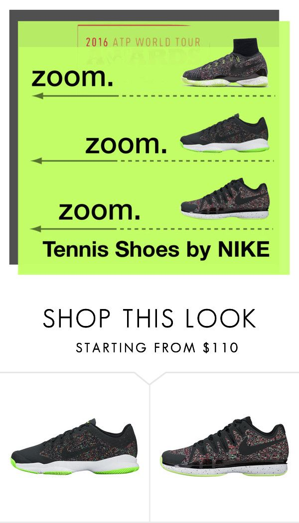 """New Nike Tennis Shoes"" by tennisexpress ❤ liked on Polyvore featuring men's fashion, menswear, tennis, athleticwear, tennisfashion and TennisExpress"
