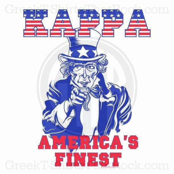 Kappa Kappa Gamma. Merica's Finest! Patriotic! Buy your sorority bid day, recruitment, and fraternity rush shirts with GreekT-ShirtsThatRock today! (800) 644-3066 #GTTR