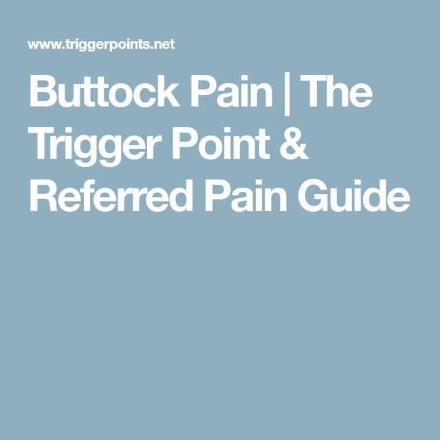 Buttock Pain | The Trigger Point & Referred Pain Guide