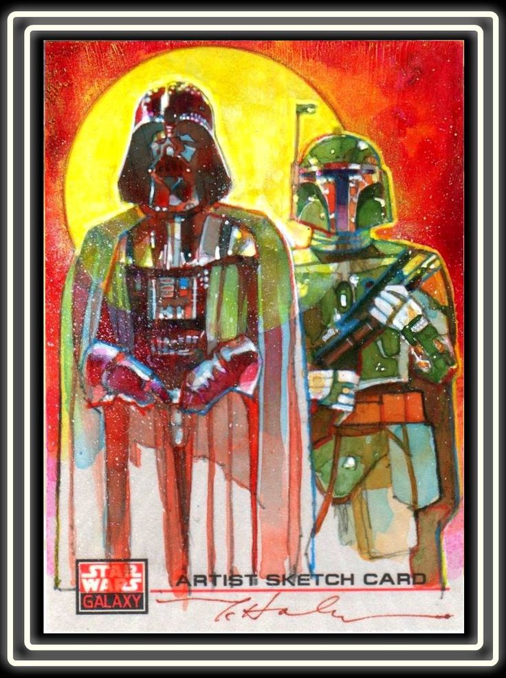 Vader and Fett by *markmchaley
