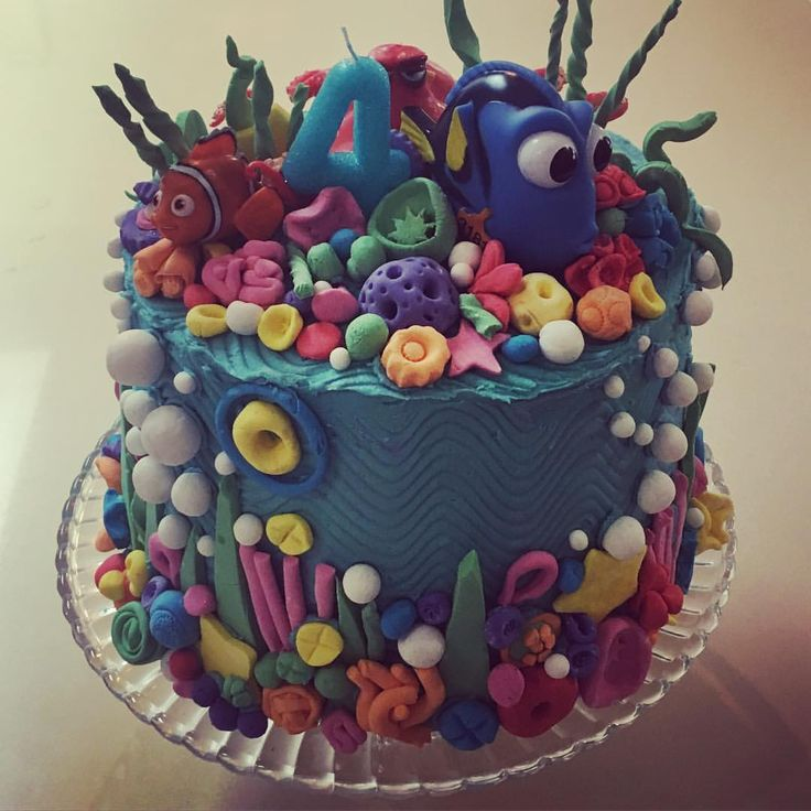 "33 Likes, 7 Comments - Yvette McKenzie (@yvette_amelia) on Instagram: ""Pep's 4th birthday cake 😜 #findingdorycake #fourthbirthday #partytime"""