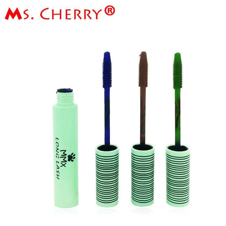 Black Brown Blue Purple Mascara Eyelash Curling Lengthening Thick Makeup Cosmetic Liquid Extension Grower Long maquiagem ME019
