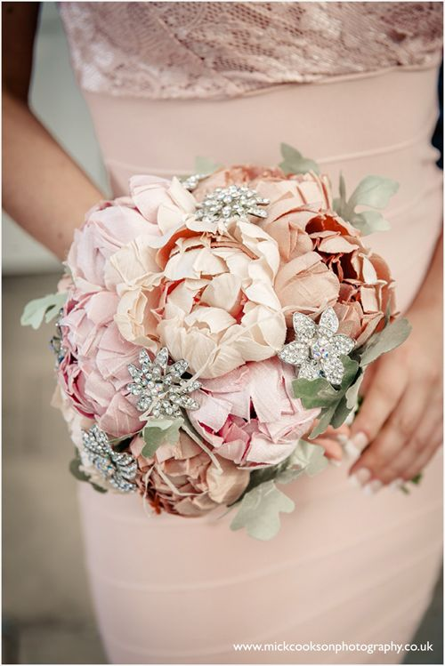 Handmade couture silk Bridal bouquet. By HBW The Handmade Wedding Boutique