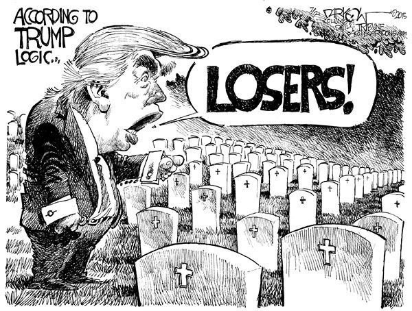 John Darkow, Columbia Daily Tribune, Missouri Cartoonists around the world are having fun making some points about Donald Trump and his zooming to the top of the GOP polls. A