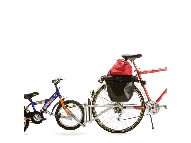 """""""Cycle individually, or be towed"""" is the FollowMe motto. Lets you hook bike to parent bike, or unhook & ride solo. Need this for camping, long bikerides, bikerides to the new 17th ave bikepark. $300"""