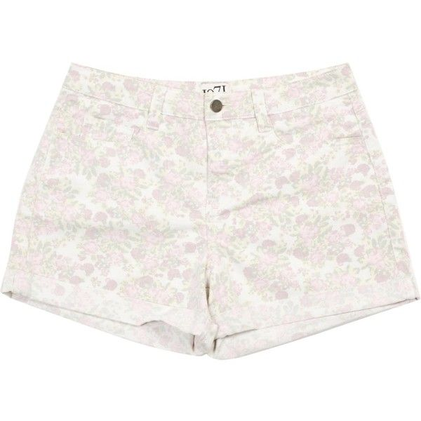 Pre-owned Reiss Pink Cotton Shorts ($28) ❤ liked on Polyvore featuring shorts, pink, women clothing shorts, flower print shorts, pastel shorts, floral print high waisted shorts, high-waisted shorts and high waisted floral shorts