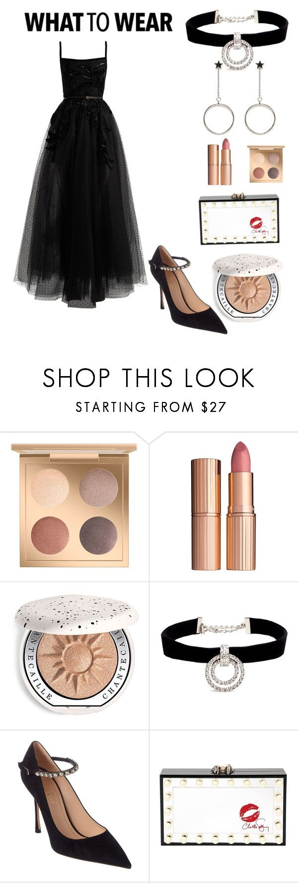 """Party look #41"" by atheer-althu ❤ liked on Polyvore featuring MAC Cosmetics, Charlotte Tilbury, Chantecaille, Kenneth Jay Lane, Christian Dior, Charlotte Olympia and Elie Saab"
