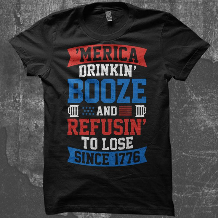 America Drinking Booze T-shirt design