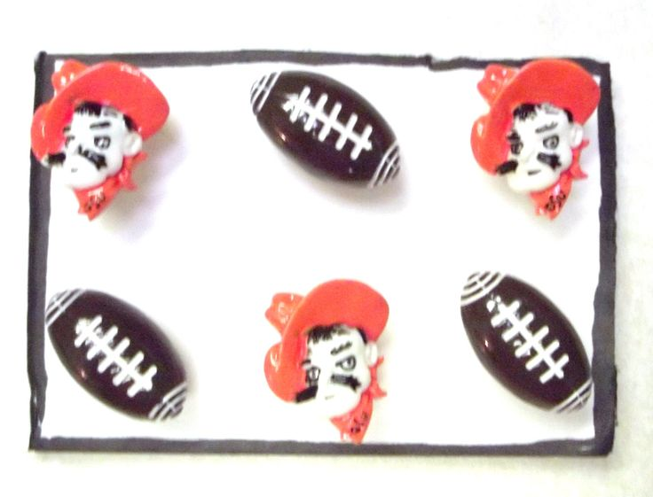 Bulletin Board OSU University FOOTBALL 6 pc Handmade Decorative Push Pin Thumb Tacks by CandCCraftSupplies on Etsy