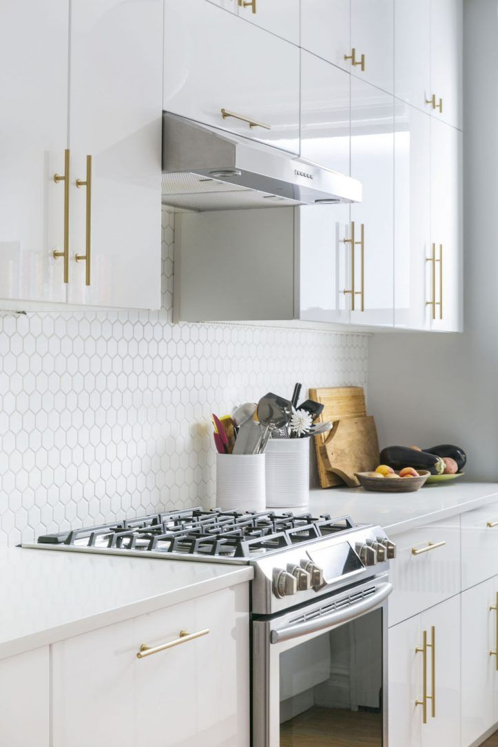 Creating A Dining Area In A Windsor Terrace Brooklyn Renovation Gloss Kitchen Cabinets High Gloss Kitchen Cabinets White Gloss Kitchen