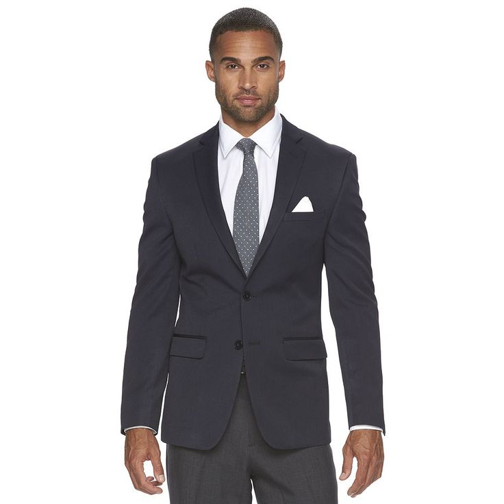 Men's Van Heusen Slim-Fit Flex Blazer, Size: 44 - regular, Blue (Navy)