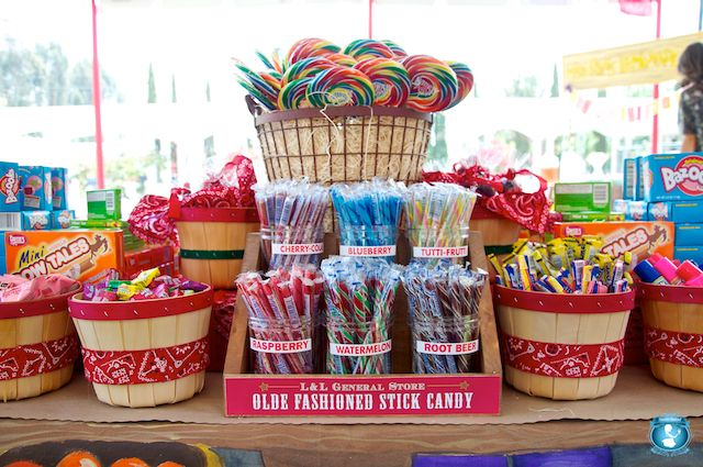 candy table: