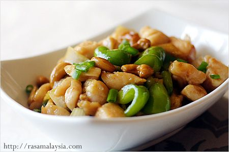 Cashew Chicken Recipe (腰果鸡丁) - More flavour required but genius tenderising with baking soda!