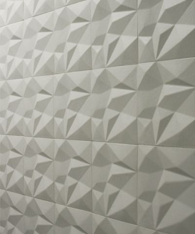 glazed ceramic tile that looks like origami folded paper textures