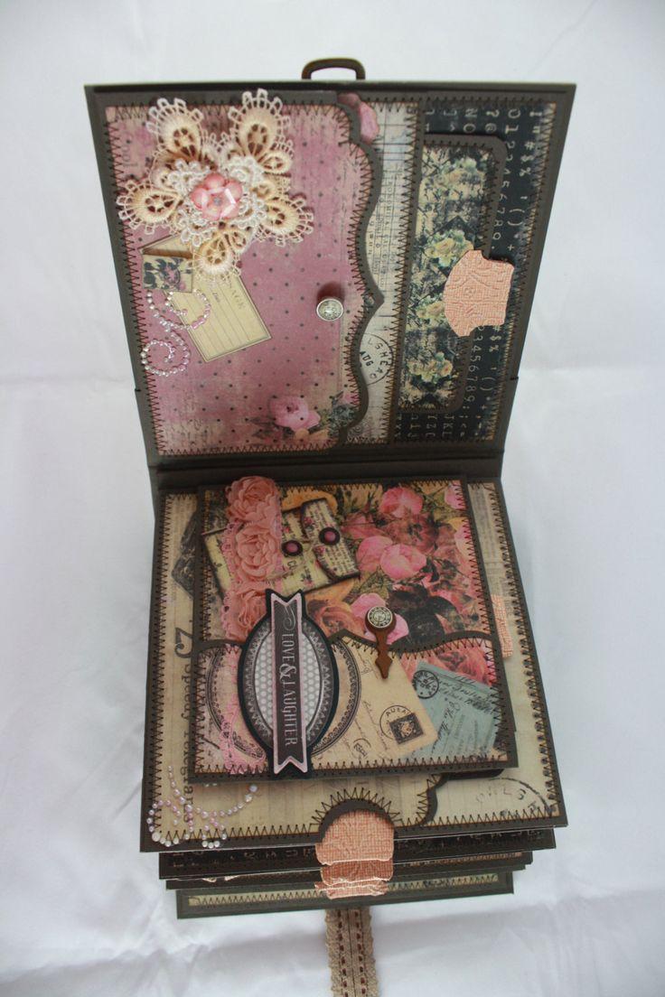 Scrapbook ideas romantic - 6 X6 Romance Novel Scrapbook Mini Album Pdf Tutorial Tutorials Roman And Romances