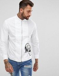 886c343ddc5 Shop Replay regular fit patches denim shirt at ASOS. Discover Fashion Online