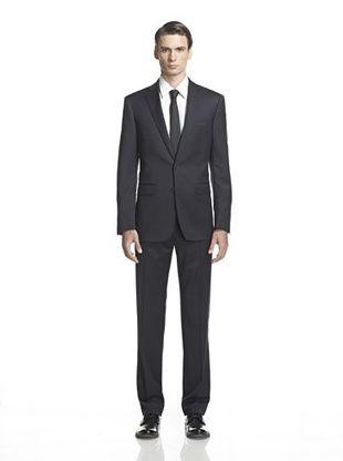 63% OFF Calvin Klein Men's Mabry Solid Slim Notch Lapel Suit (Navy)