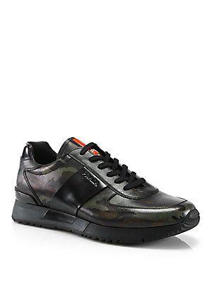 Prada Camouflage Print Running Sneakers