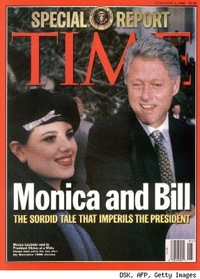 Bill Clinton and Monica Lewinsky scandal.