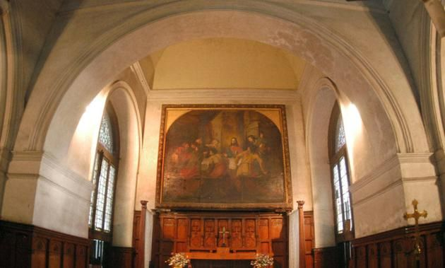 A painting of The Last Supper at The St. Mary's Church